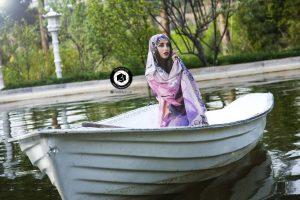 آتلیه عکاسی مدلینگ اسپرت شال و روسری حجاب پوشاک فشن فضای باز باغ