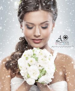 best movie wedding hair ateliyer photography garden bridal bride groom andisheh no featured ceremony outdoor tehran east iran fashion modeling andisheh no nima nasiri 129 250x300 - Young attractive bride with the bouquet of white roses over snow