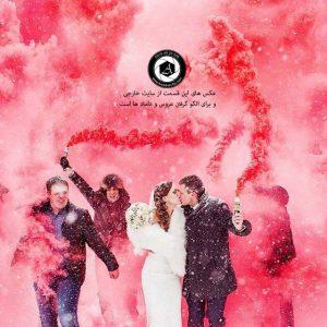 colorful smoke in the wedding photo 2 300x300 - خرید لباس عروس انتخاب آتلیه عکاسی و آرایشگاه عروس
