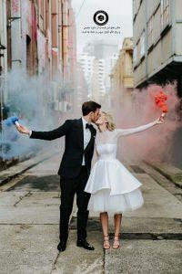 colorful smoke in the wedding photo 8 200x300 - عکاسی همراه با دود رنگی از عروسی و داماد و ساخت کلیپ عروسی - Colorful smoke in the wedding photo (8)