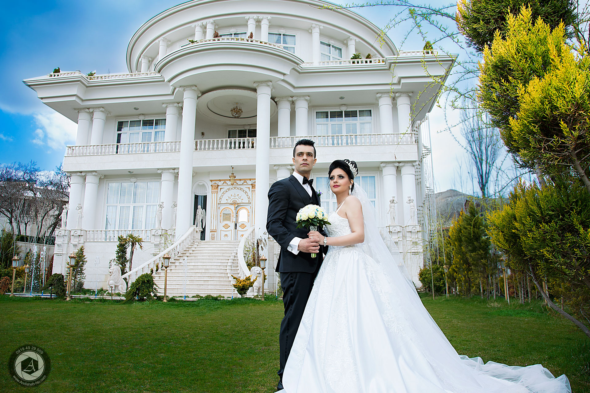 groom suit - Bridesmaid dresses - Bridal Bouquet - Wedding mansion - photography studio andisheh no - manager nima nasiri