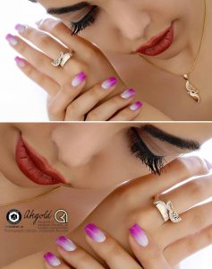 gold jewelry ring earrings bracelet photography modeling  237x300 - عکاسی طلا و جواهر
