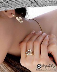 gold jewelry ring earrings ring bracelet photography modeling 1 237x300 - Gold Jewelry Ring Earrings Ring bracelet photography Modeling - عکاسی طلا جواهر سایت فروش خرید حلقه دستبند انگشتر ست انگشتر انو (۱)
