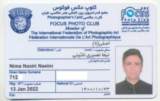 nima nasiri focus photo club fiap  - فیاپ ، فدراسیون بین المللی هنر عکاسی