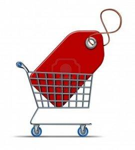 Price Tag in Shopping Cart 271x300 -