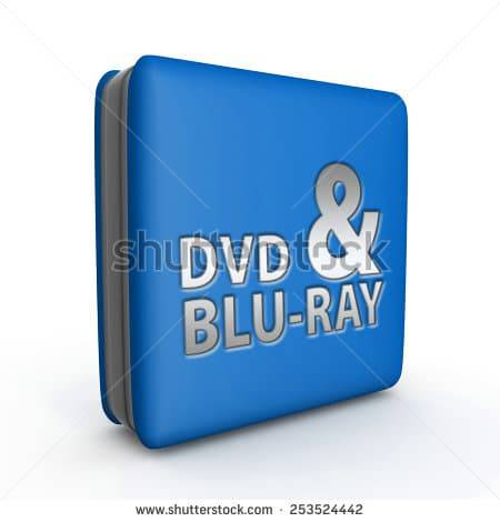 stock photo dvd and bluray square icon on white background 253524442 1 - تفاوت dvd و blueray و کاربرد آن