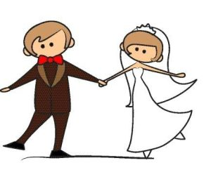 wedding cartoon vector204 300x252 -